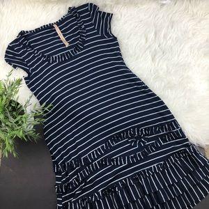 Bailey 44• Drop waist stripe knit dress